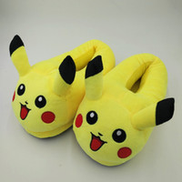 Pantofole Pikachu Cartoon Slipper in peluche con pantofole Full Expression Donna Pantofole Home Emoji Uomo Winter House Scarpe per bambini