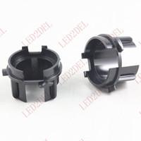 Wholesale Xenon For Car - Headlight H7 HID Xenon Bulb Adapter Holder Converter Base For KIA K3 K3S Car HID Accessories