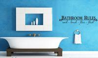 banyo malzemeleri toptan satış-2015 Sıcak Öğe Yüksek Kaliteli Duvar Sticker Banyo Kuralları Çıkarılabilir PVC Ücretsiz Kargo 2 parça çok 13 * 60 cm