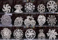 Wholesale Small Brooches For Wedding - 2015 2016 New Hot Silver Color Rhinestone Crystal Small Bridesmaid Fruits Flowers Pin Brooch 15 styles for choices