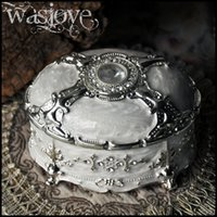 Wholesale Girls Dressers - Antique Floral Flower Dresser Trinket Vanity Jewelry Casket Box Vintage Style Metal Jewelry Packing Box gift for girls Free Shipping