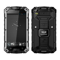Wholesale Dual Sim Memory Card - Conquest S6 5.0'' HD GSM WCDMA 4G LTE MTK8732 Quad Core Android 4.4 32G Memory NFC IP68 Waterproof Rugged Phone.