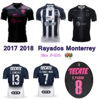 Wholesale Projects Quality - 2017 2018 Rayados Monterrey Jersey 17 18 home away Project Pink soccer jerseys top thai quality Molina Sanchez Funes Mori shirts size S-2XL