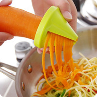 Wholesale Vegetable Julienne Slicer - Kitchen Tool Vegetable Fruit Spiral Shred Process Device Cutter Slicer Peeler Slicer spirelli spiralizer julienne cutter