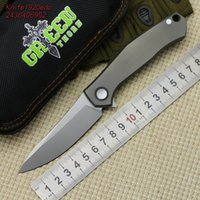 Wholesale Limited Knives - Green thorn Poker Digital Limit Knife M390 Knife TC4 Titanium Alloy Handle Outdoor Camping Hunting Pocket Fruit Knife EDC TOOL
