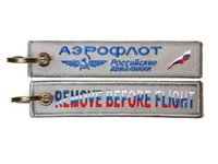 Wholesale russian keyring for sale - Group buy Aeroflot Skyteam Russian Airline Cabin Crew Fabric Embroidery Keyring Keychain x cm
