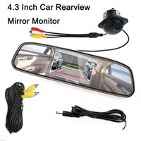 Wholesale Rearview Lcd Parking Sensor - 2016 Sale Car Parking Kit Universal 4.3 Inch Car Rearview Monitor Parking Kit + Waterproof Reverse Camera CMO_50U