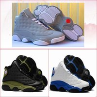 Wholesale wolf table - mens shoes 13 Hyper Royal black White GS Wolf Grey olive black basketball men 13s sports shoe luxury running trainers sneakers