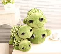 Wholesale Cute Animals Big Eyes - 20CM cute big eyes small turtle plush tortoise toys