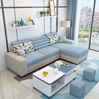 Wholesale Room Apartment - Home Furniture Living Room Furniture New pattern Fabric art sofa The detachable corner Simple Modern small apartment combination