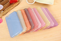 Wholesale Transparent Gel Flip Casing - Factory Price Flip Wallet Clear crystal transparent skin TPU Gel Silicone Full cover case cases For iphone 6 4.7 inch 5.5 inch free shipping