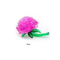 Wholesale Crystal Rose Toy - 3D Crystal Puzzle Jigsaw Model DIY Rose IQ Toy Gift Gadget