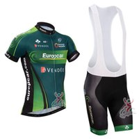 Wholesale Europcar Sleeve - New 2014 Europcar Short Sleeve Cycling Jersey and Cycling Bib Shorts (Gel Pad) Summer Cycling Clothing Size:S-XXXL Free Shipping