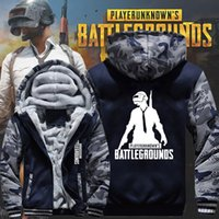 New Winter Warm PLAYERUNKNOWN's BATTLEGROUNDS Felpe con cappuccio Cappuccio con cappuccio Spessa Zipper Uomo Casual Cardigan Jacket Felpa