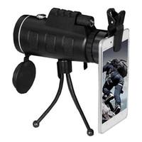 monoküler kameralar toptan satış-Evrensel Teleskop Telefon Lens ile 40x60 HD Gece Görüş Monoküler Klip ve Ayarlanabilir Pusula için Telefon Pusula Açık Kamera Teleskop