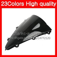 23Colors Motorcycle Windscreen para YAMAHA YZFR1 04 05 06 YZF R1 YZF 1000 YZF1000 YZF-R1 2004 2005 2006 Chrome Black Clear Smoke Windshield