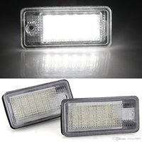 Wholesale Led Flood Lights Bulbs - 2 x White 18 LED 3528 SMD License Plate Lights Lamps Bulbs for AUDI A3 S3 A4 S4 B6