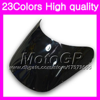 Wholesale 1989 Honda Cbr - 23Colors Windscreen For HONDA CBR400RR 87 88 89 NC23 CBR400 RR CBR 400RR 400 1987 1988 1989 Chrome Black GPear Smoke Windshield