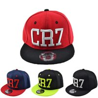 Wholesale Snapback Adjustable Boy - 2017 New Summer Children Ronaldo CR7 Baseball Cap Hat Boys Girls MESSI Snapback Hats Kids Sports Neymar NJR Hip Hop Caps