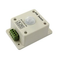 infrarot-bewegungsschalter großhandel-PIR Bewegungssensor Schalter DC 12 V-24 V 8A Automatische Infrarot Für Einfarbige Led-streifen Led-licht 3528 5050 5630 Smart Home Neue Ankunft