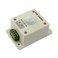 sensor de luz 12v venda por atacado-PIR Sensor de Movimento Interruptor DC 12 V-24 V 8A Infravermelho Automático Para Uma única Cor LED Tira CONDUZIDA Luz 3528 5050 5630 Smart Home New Arrival