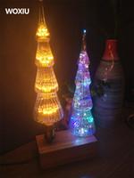 decoraciones de luces de navidad de la vendimia al por mayor-WOXIU árbol de navidad Vidrio vintage Bombilla de filamento vintage Edison Lámpara retro Cielo estrellas cálidas decoraciones blancas del día de navidad