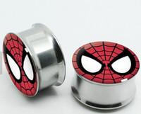 kulak tıkacı tünelleri karışımı toptan satış-Batman olmayan Vidalı Paslanmaz Çelik Logosu Kulak Fişler Flesh Tünelleri Kulak Göstergesi Sedye Genişletici, Piercing Takı 60 adet mix 6-16mm
