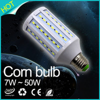 Wholesale E27 42 Led 3w - LED Lamp E27 corn light Bulb SMD 5730 24 42 60 84 98 132 165leds bombillas led 220V Ampoule Candle light lampada luz led