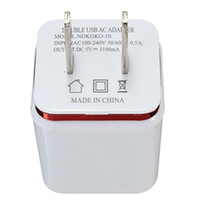 Wholesale Cheap Wall Adapter - Cheap Top Quality 5V 2.1+1A Double USB AC Travel US Wall Charger Plug Dual Charger For Samsung Galaxy HTC Smart Phone Adapter