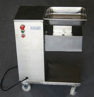 Wholesale Pulleys Machines - Wholesale - Vertical type meat cutting machine, 110 220 240V meat cutter, meat slicer with pulley, 500KG hour  Fresh meat slicing machine