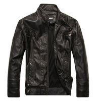 Wholesale Lambs Skin Leather - Fall-Men motorcycle leather jackets Winter PU Jackets and Coat Thickening Wool Windbreaker Waterproof Warm Skin Lamb Fur Trench Coat