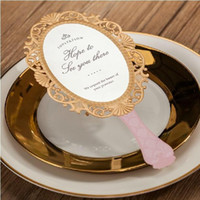 Discount personalized birthday invitations - New Style Pink Mirror-Shape Laser Cut Wedding Card Invitations Include Envelope with Personalized Customized Printing 2015 Free Shipping