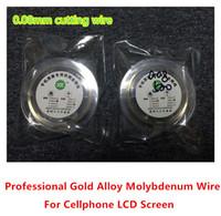 ingrosso riparazione della macchina di qualità-Alta qualità nuova linea di taglio filo / filo di molibdeno oro 0.08MM per Iphone 4 / 4s / 5 6 6S Samsung S4 / S3 vetro separatore ristrutturare riparazione della macchina