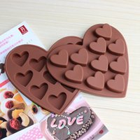 Wholesale Silicone Heart Shaped Chocolate Mould - silicone heart shape Chocolate molds DIY suger sweet love ice cake mold hot sale freeshipping