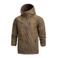 Wholesale Hiking Jackets For Men - Wholesale-2016 Outdoor Jacket Men Waterproof Softshell Jacket Windproof Breathable Hiking Jackets For Sport Camping Rain Hoodies A0123-5