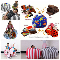 Wholesale kids wall canvas - Stuffed Animal Storage Bean Bag 18inch 60cm 33 Styles Cotton Canvas Bean Bag Chair Spherical Kids Storage Bags OOA3523