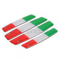 Wholesale 3d Stickers Italy - 100 Sets Car Styling Germany Italy France American England India Flag Car Door Side Door Edge Guard Protective Sticker Decal
