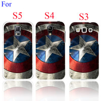 Wholesale S3 Captain America - Wholesale-2015 New Captain America Case Cover for Galaxy S5 S4 S3 I9600 I9500 I9300 1PC