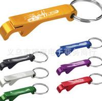 Wholesale Random Key - Best price Key Chain Beer Bottle Opener Small Beverage Ring Claw Bar Pocket Tool Random Colors 200pcs