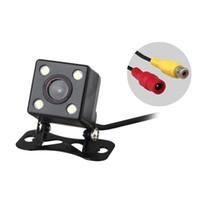 ccd kamera führte wasserdicht großhandel-E314 Wasserdichte 4 LED Nachtsicht Auto CCD Rückfahrkamera Einparkhilfe Kamera Für Android DVD Monitor