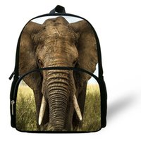 12-Inch de Moda de Nova Animal Print Bag Elephant Backpack For Kids Elephant SCHOOLBAG Crianças mochila para meninos School Girls