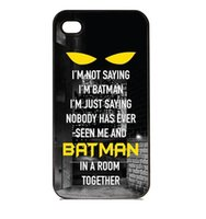 Wholesale Iphone 4s Batman - Wholesale I'm Not Saying I'm Batman Hard Plastic Mobile Phone Case Cover For iPhone 4 4S 5 5S