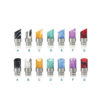 Wholesale Ecig Mouth Pieces - 510 stainless steel Acrylic Mouthpiece Screw thread Drip Tip ecig mouth piece drip tip for ecig atomizer