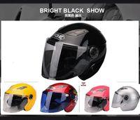 Wholesale Open Helmet Jet - Wholesale-2014 Super Jet Helmets Motorcycle Helmet Open Face Dirt Bike Capacete Winter Helmets Sports Racing Casco Yohe YH837
