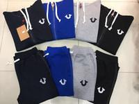 Wholesale Top Branded Men Suits - Hot Fashion top quality Designer men Tracksuits US size Brand true sweat suit man Sport Suit coat jacket Hoodie Sweatshirts Set M-3XL