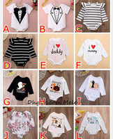 Baby Onesies Ins Xmas Cute Boys Girls Cotton Romper Stripe Flower Solid Color Long Sleeve Brief Halloween Celebration Festival Детская одежда