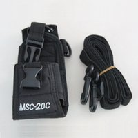Wholesale Kenwood Case - Radio Case Holder MSC-20C Nylon Carry Case For BaoFeng UV-5R Kenwood Yaesu ICOM Motorola Wouxun TYT Puxing HYT