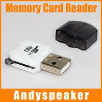 Wholesale Micro Sd Card Wholesale China - Mini Memory Card Reader High Speed Micro USB 2.0 SD TF T-Flash Memory Card Reader Adapter Black Free Shipping