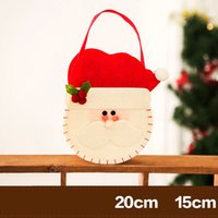 3 design Presentes quentes de decoração para o Natal Gift Candy Elderly Gift Tote Bag Cute Best Price free shipping