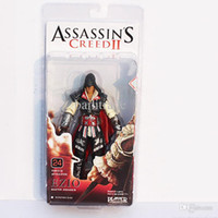 """Wholesale Assassin Creed Ezio Toy - Wholesale-NECA Assassin Creed II Ezio Master Assassin 7""""18cm PVC Model Toys Figure Collection Gifts for children Free Shipping"""